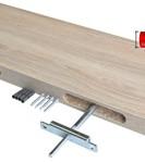 Regalwelt 9003-DC-WSM Design Candleboard, 30 x 13 x 3,8 cm, weiß seidenmatt