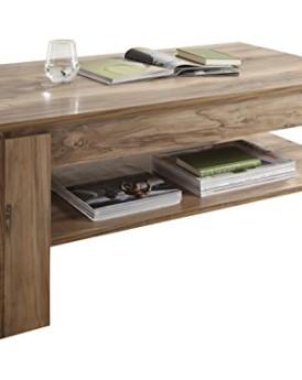 trendteam 1100-112-60 Couchtisch Wohnzimmertisch Tisch Montreal in Nussbaum satin Nachbildung, 110 x 65 x 47 cm. Melamin