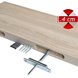 Regalwelt 9008-DL-WSM Design Livingboard, 80 x 25 x 3,8 cm, weiß seidenmatt